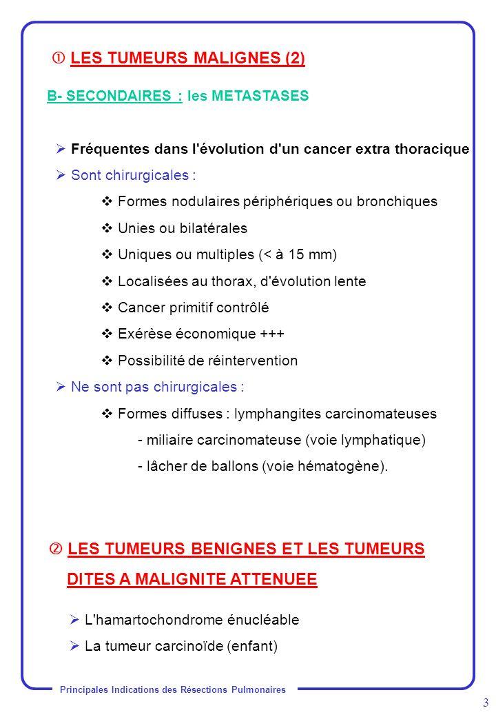  LES TUMEURS MALIGNES (2)