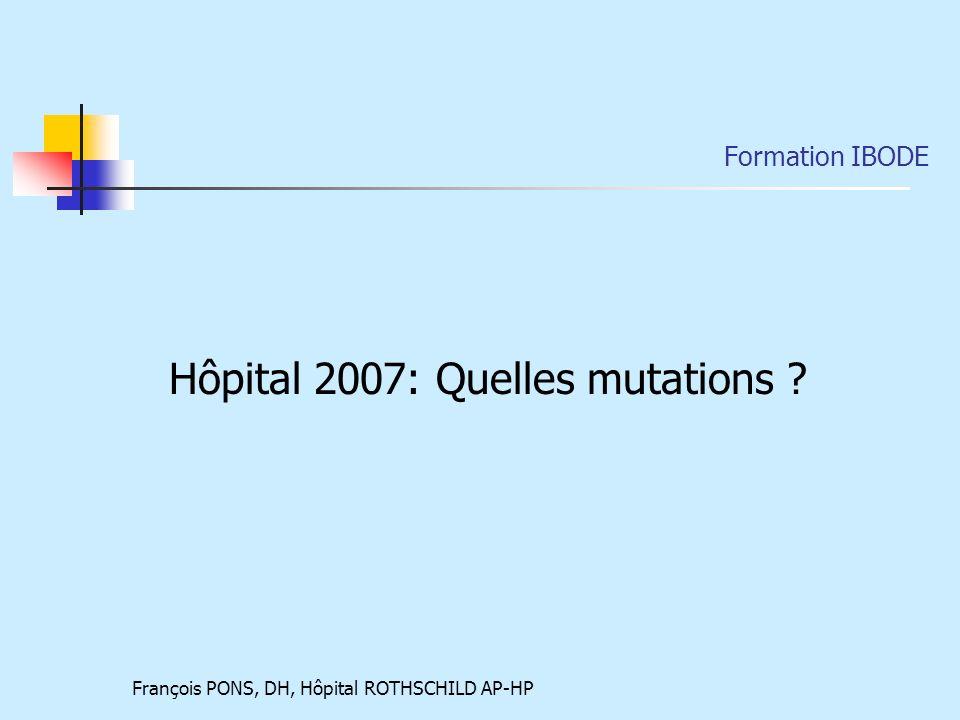 Hôpital 2007: Quelles mutations