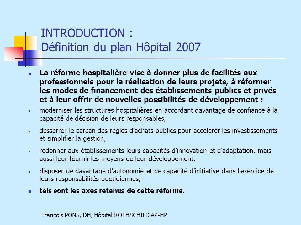 INTRODUCTION : Définition du plan Hôpital 2007