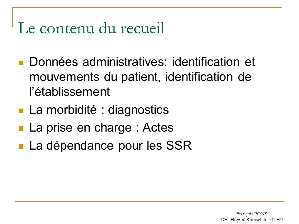 DH, Hôpital Rothschild AP-HP