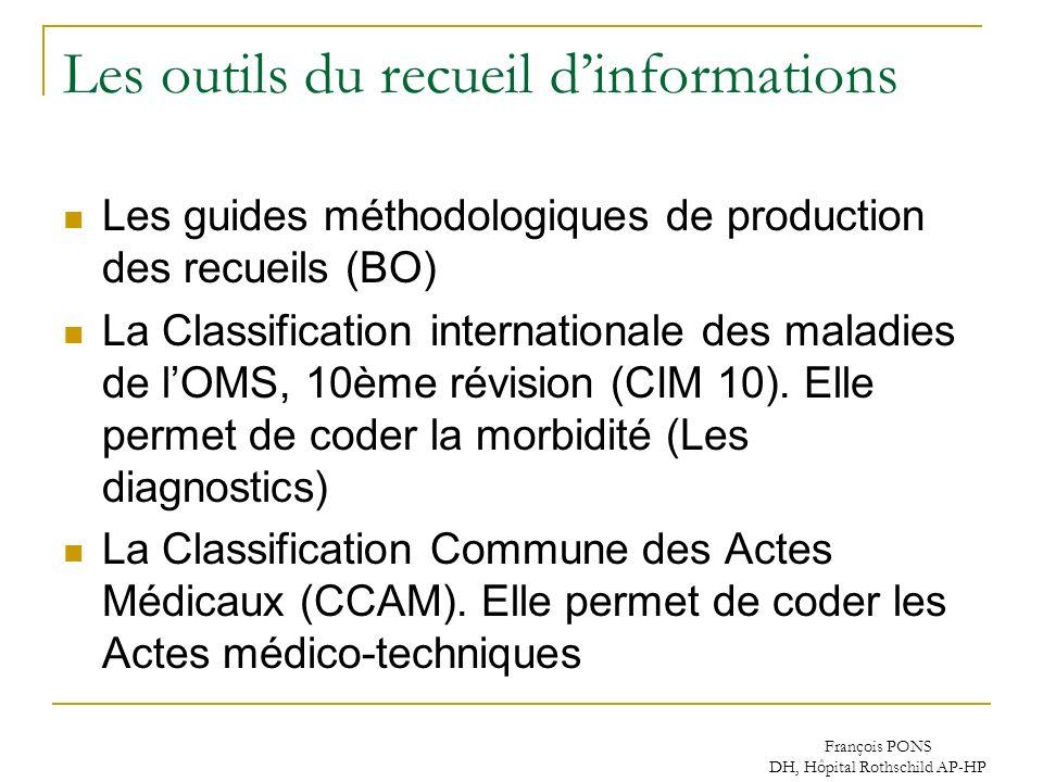 Les outils du recueil d'informations