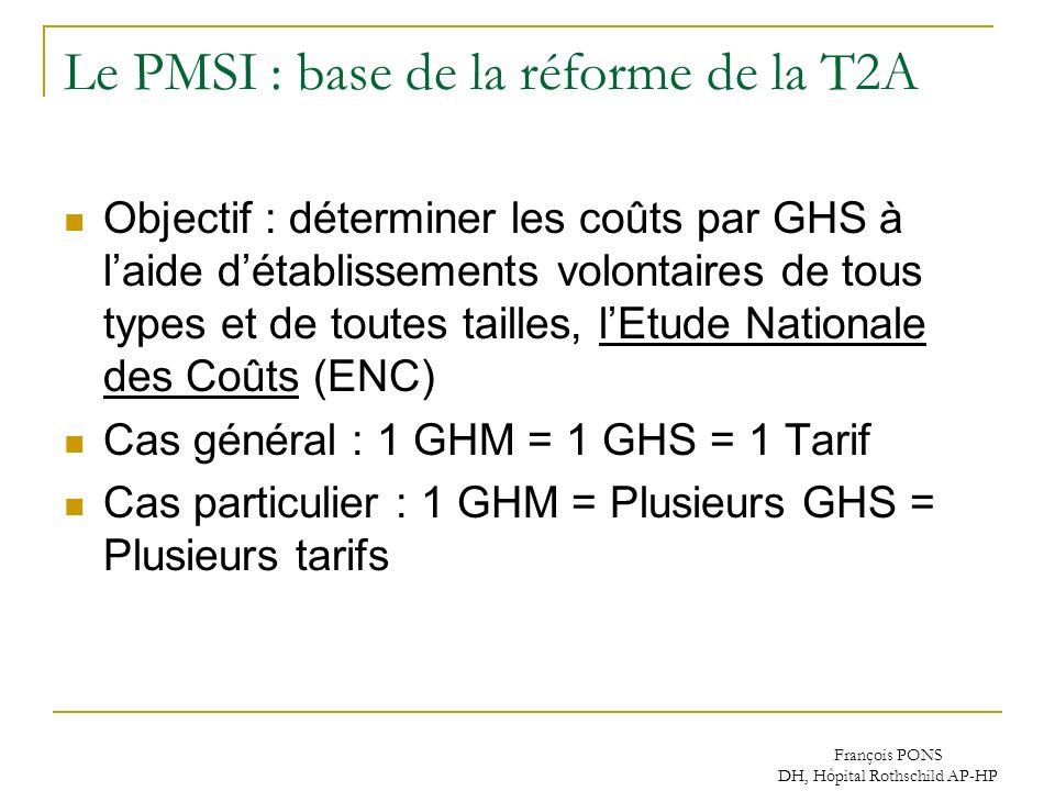 Le PMSI : base de la réforme de la T2A