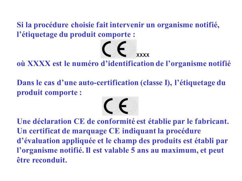 où XXXX est le numéro d'identification de l'organisme notifié