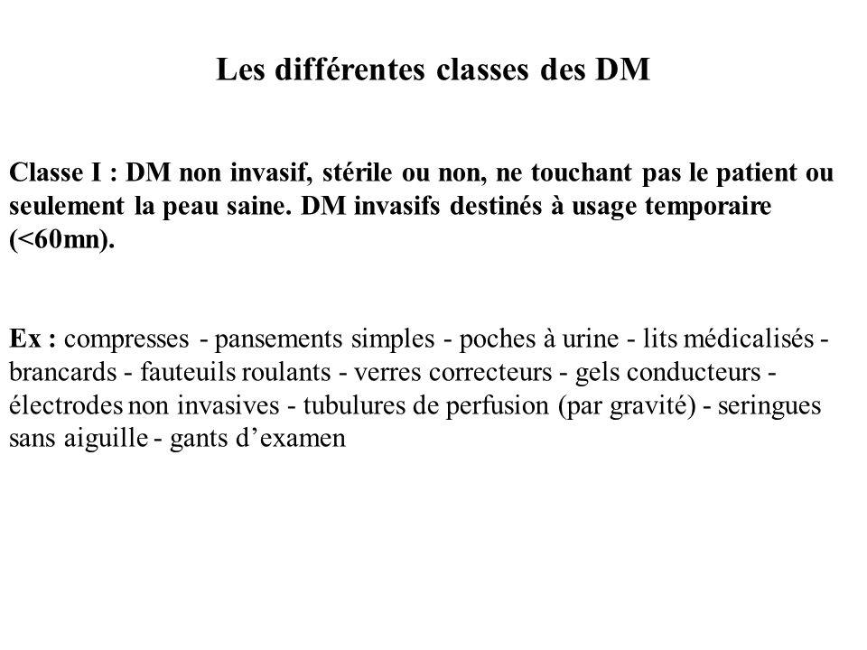 Les différentes classes des DM