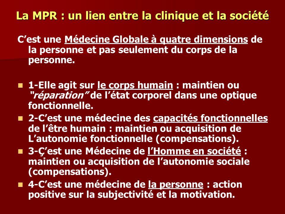 La MPR : un lien entre la clinique et la société