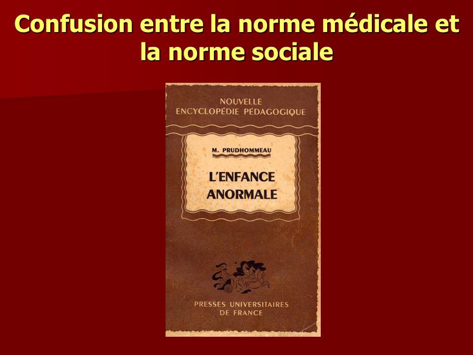 Confusion entre la norme médicale et la norme sociale