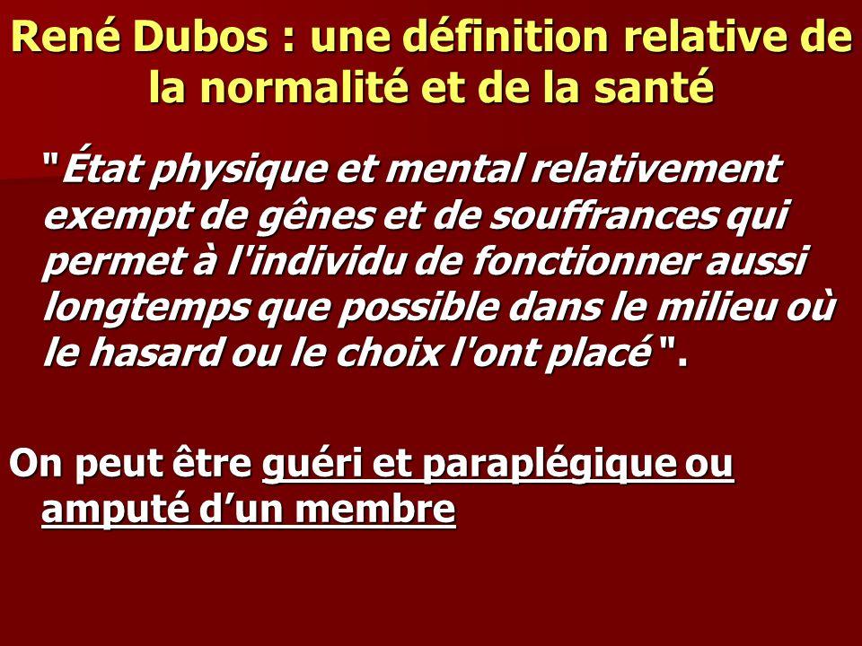 René Dubos : une définition relative de la normalité et de la santé