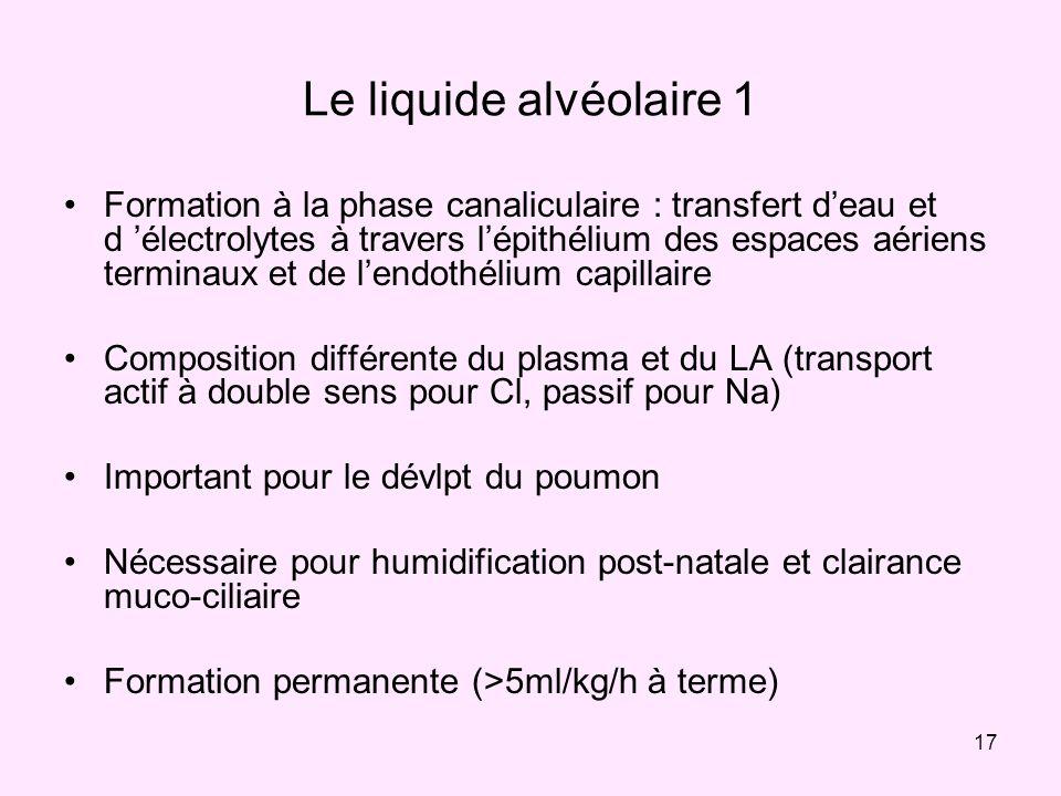 Le liquide alvéolaire 1