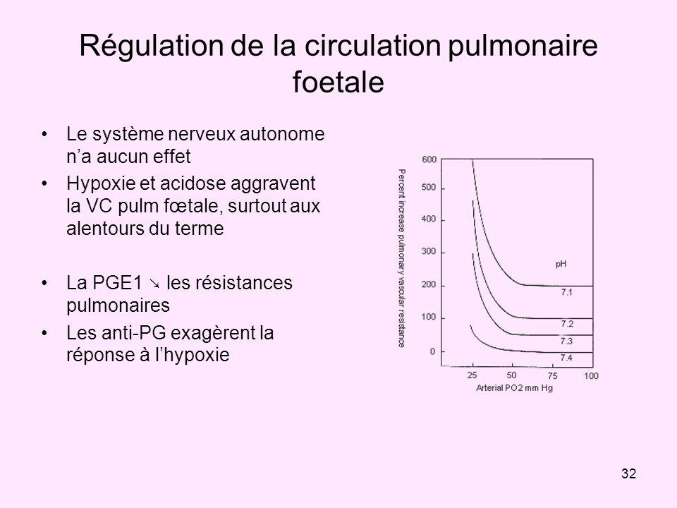 Régulation de la circulation pulmonaire foetale