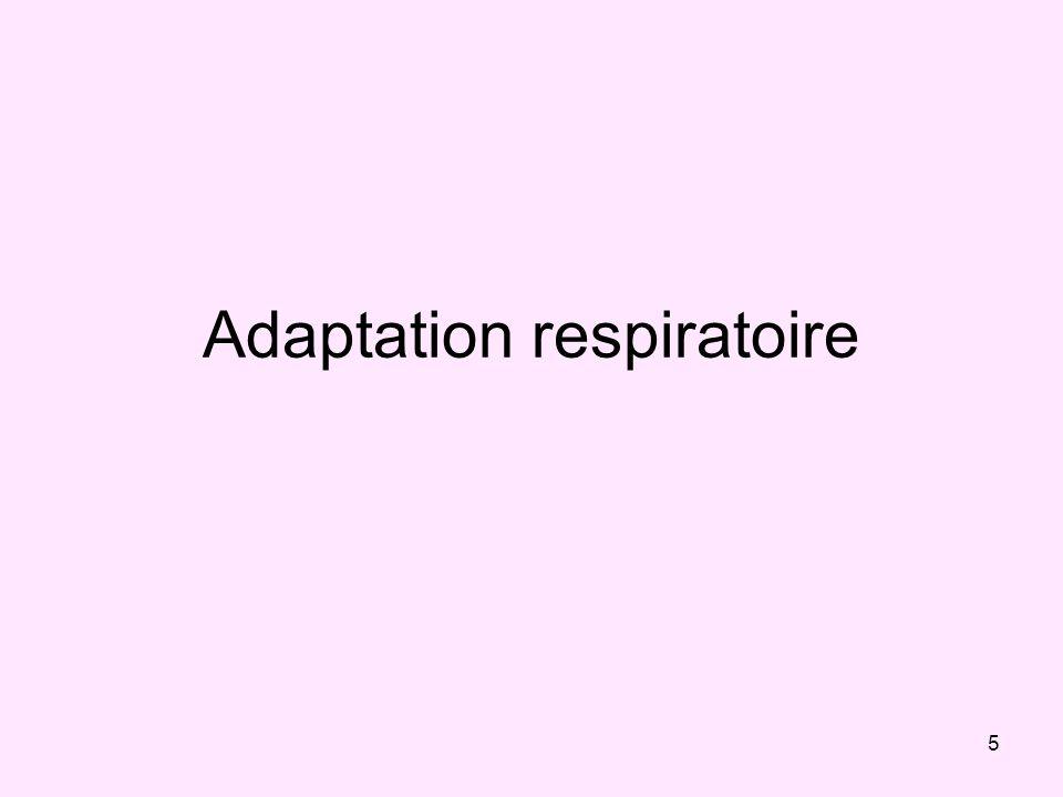 Adaptation respiratoire