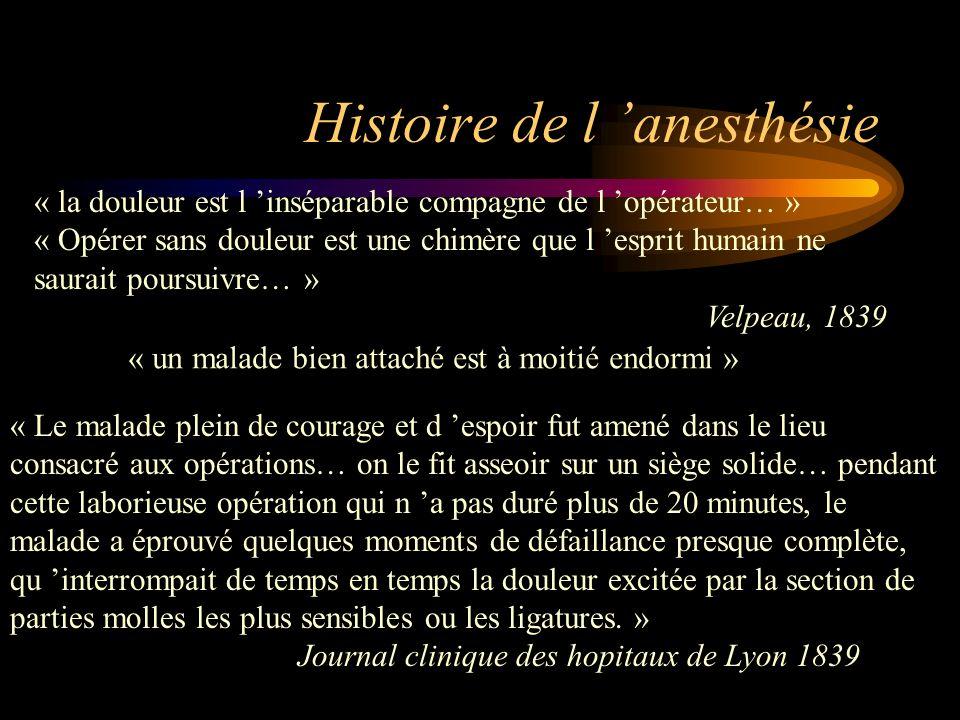 Histoire de l 'anesthésie