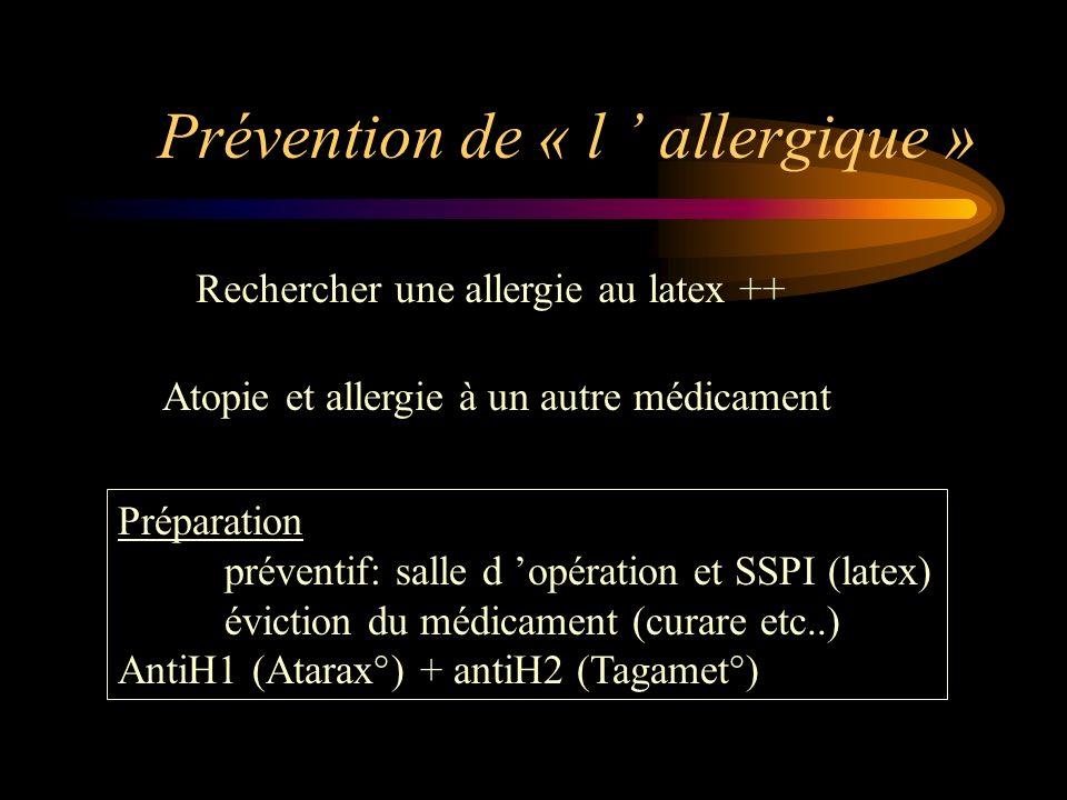 Prévention de « l ' allergique »