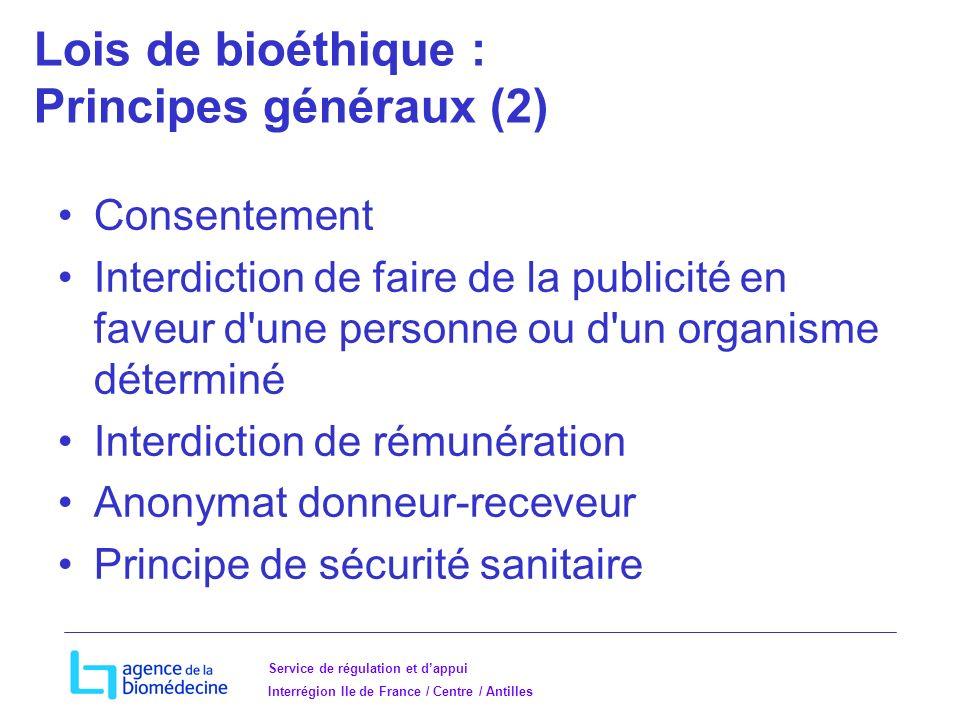 Lois de bioéthique : Principes généraux (2)