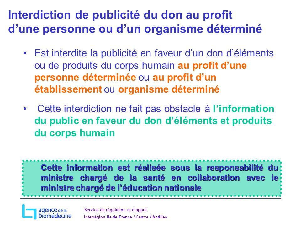 Interdiction de publicité du don au profit d'une personne ou d'un organisme déterminé