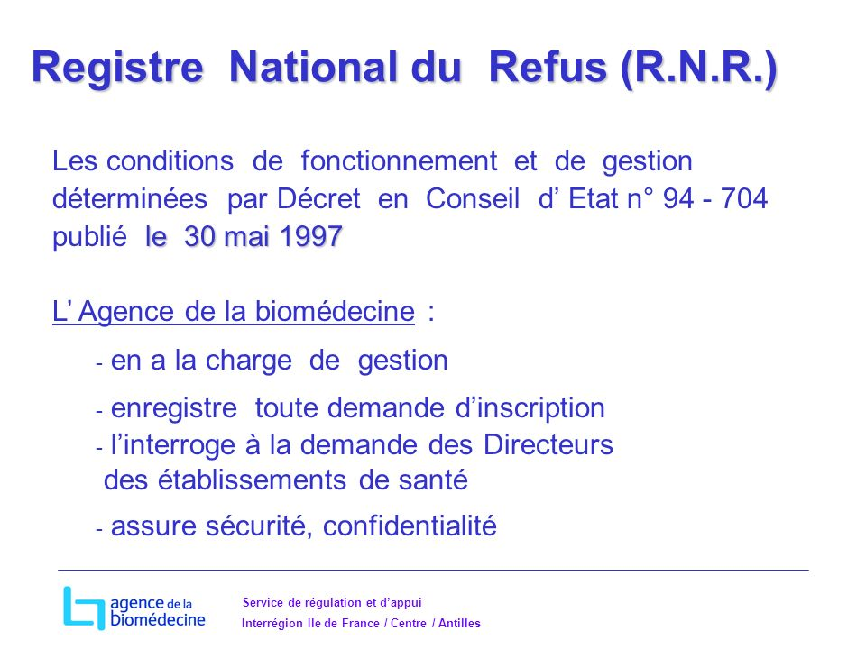 Registre National du Refus (R.N.R.)