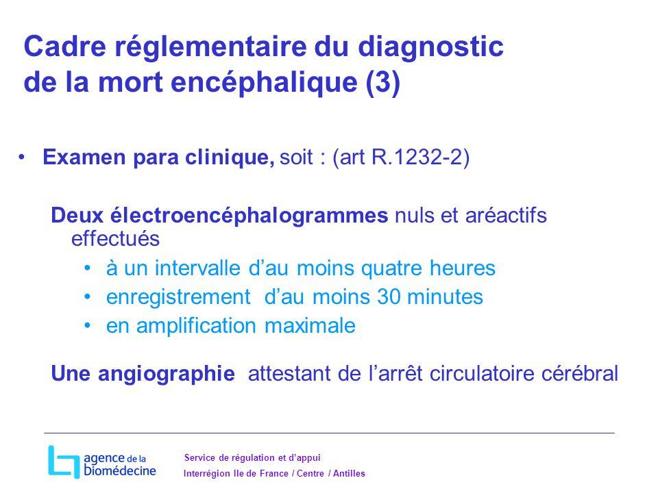 Cadre réglementaire du diagnostic de la mort encéphalique (3)