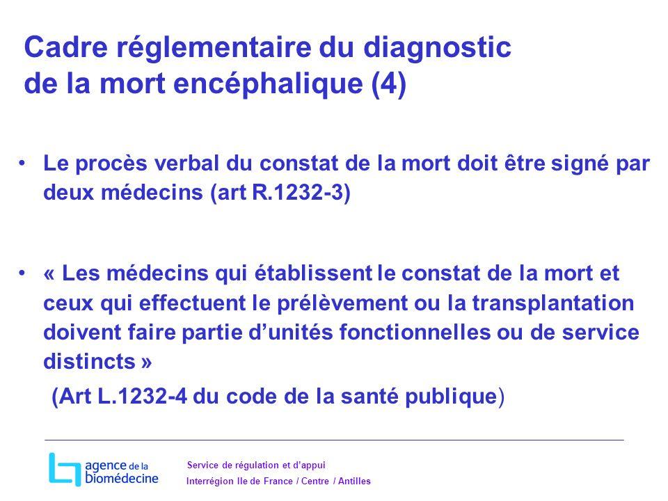 Cadre réglementaire du diagnostic de la mort encéphalique (4)