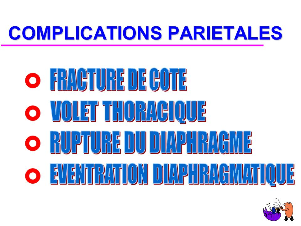 COMPLICATIONS PARIETALES