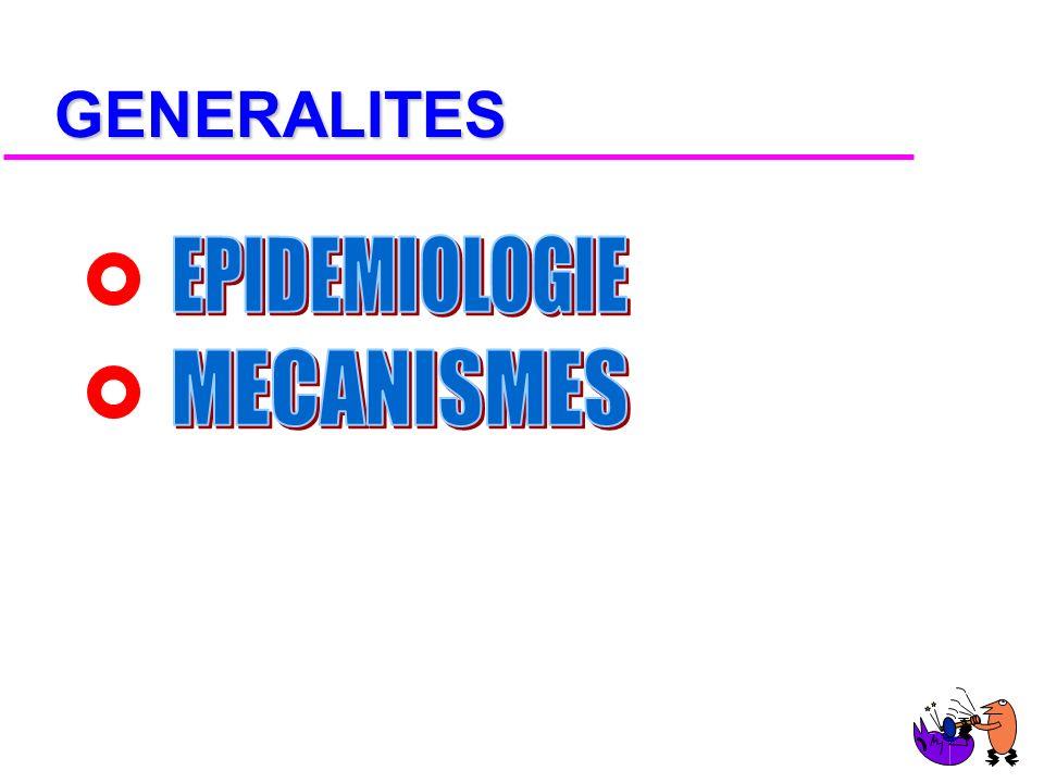 GENERALITES EPIDEMIOLOGIE MECANISMES