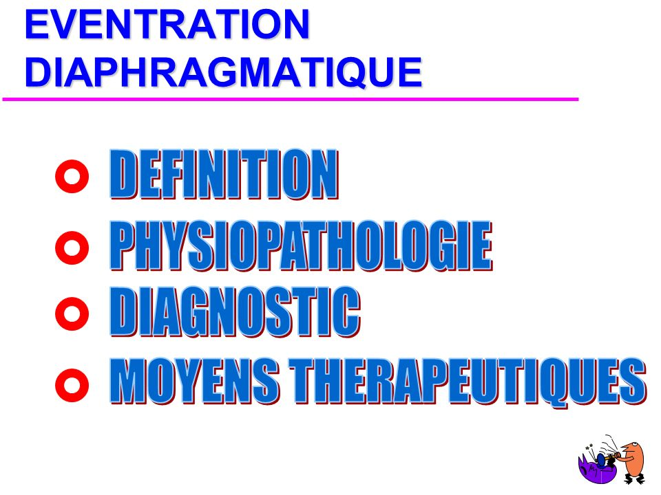 EVENTRATION DIAPHRAGMATIQUE