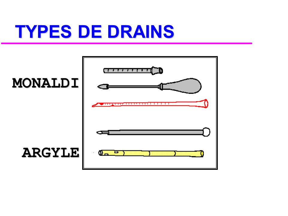TYPES DE DRAINS MONALDI ARGYLE