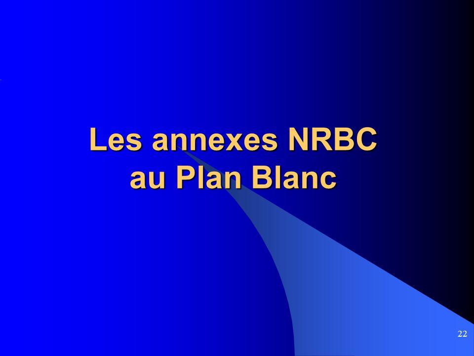 Les annexes NRBC au Plan Blanc