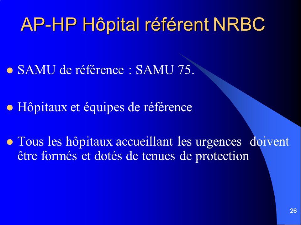 AP-HP Hôpital référent NRBC
