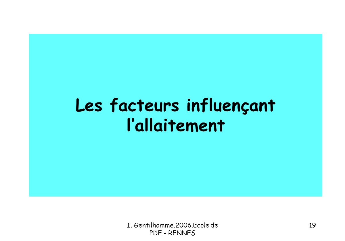 Les facteurs influençant l'allaitement
