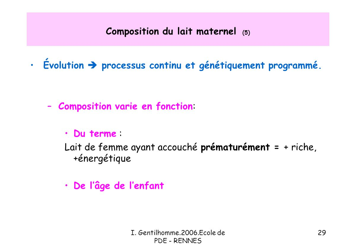Composition du lait maternel (5)