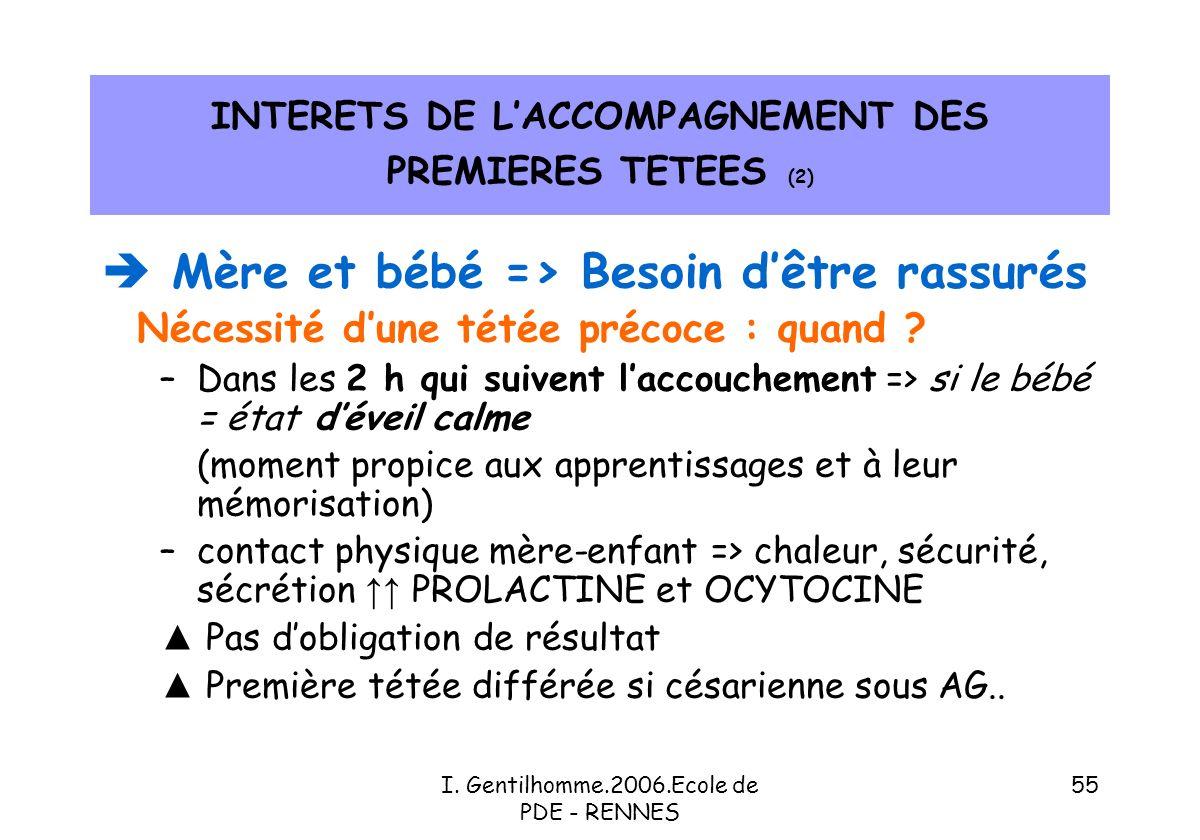 INTERETS DE L'ACCOMPAGNEMENT DES PREMIERES TETEES (2)