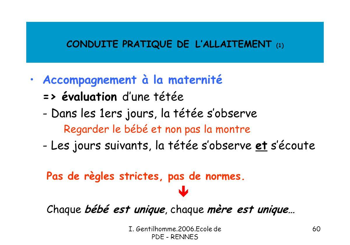 CONDUITE PRATIQUE DE L'ALLAITEMENT (1)
