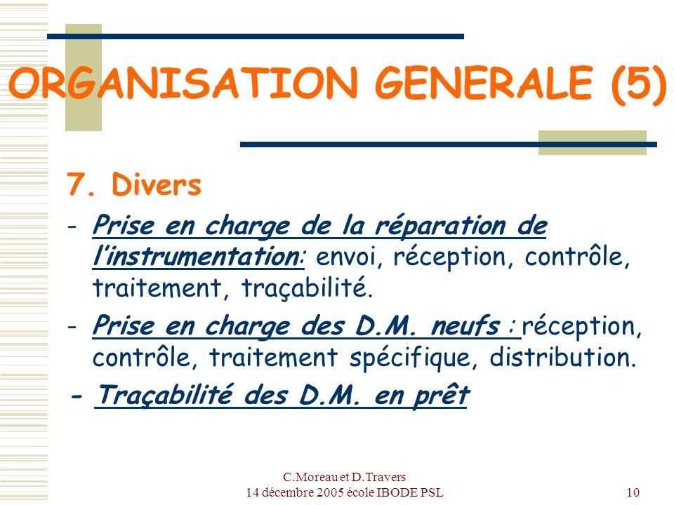 ORGANISATION GENERALE (5)
