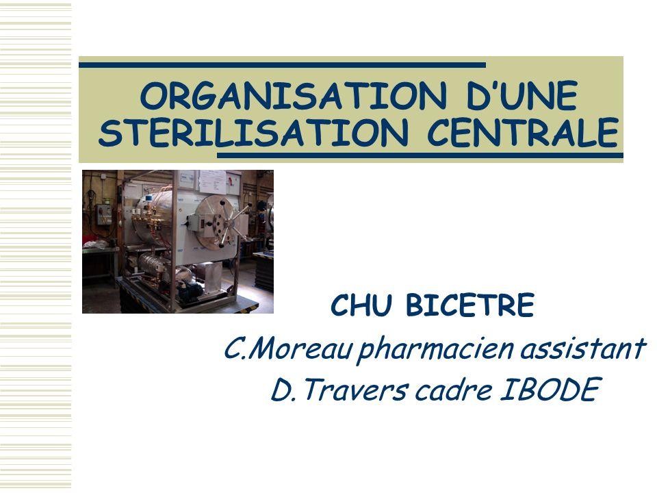 ORGANISATION D'UNE STERILISATION CENTRALE