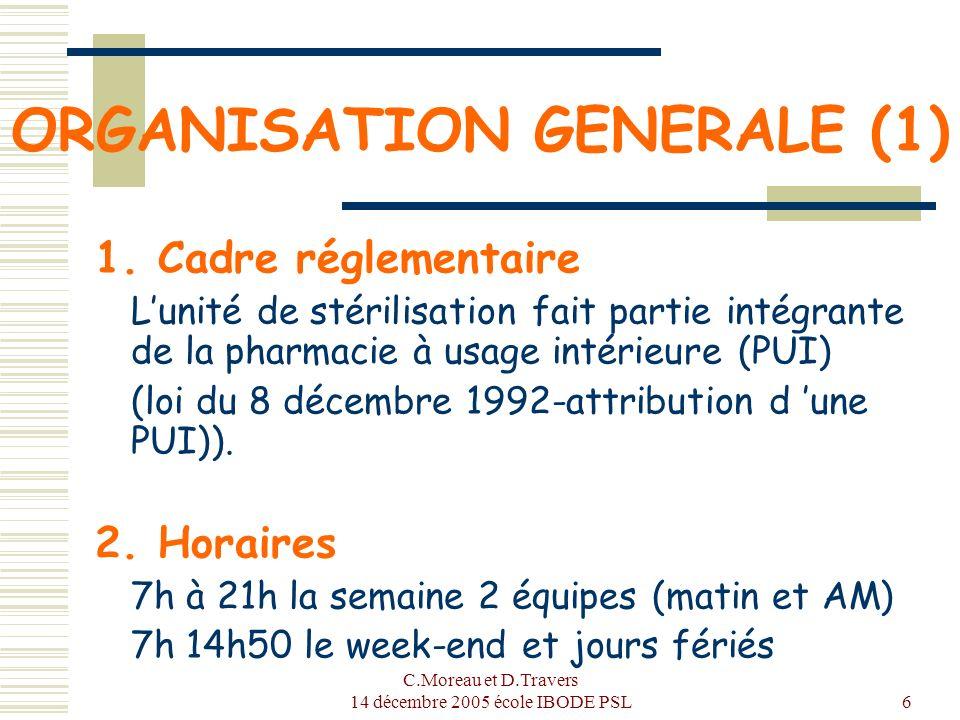 ORGANISATION GENERALE (1)