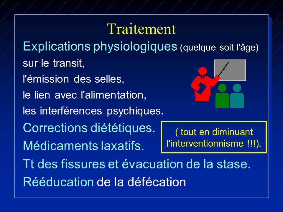 Traitement Explications physiologiques (quelque soit l âge)