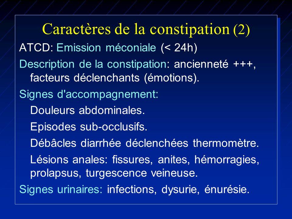 Caractères de la constipation (2)