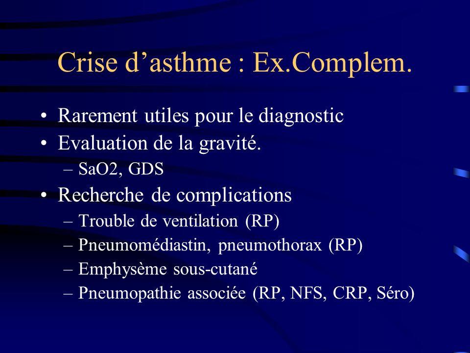 Crise d'asthme : Ex.Complem.