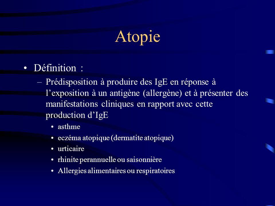 Atopie Définition :