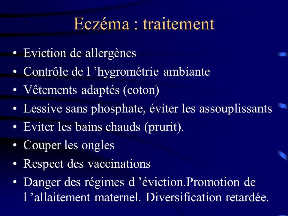 Eczéma : traitement Eviction de allergènes