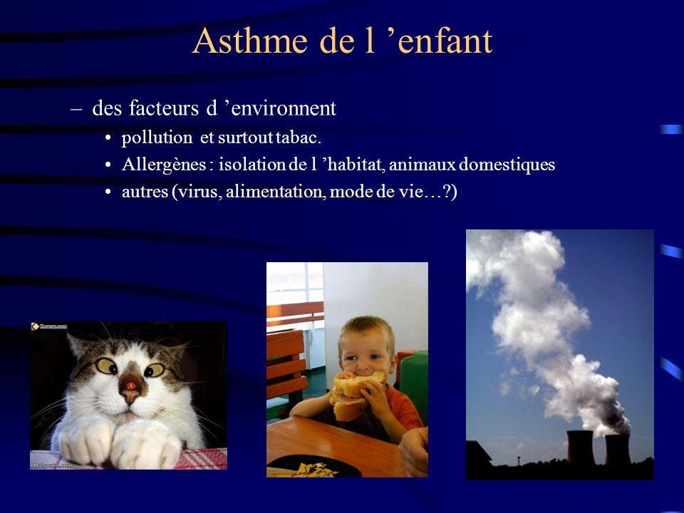Asthme de l 'enfant des facteurs d 'environnent
