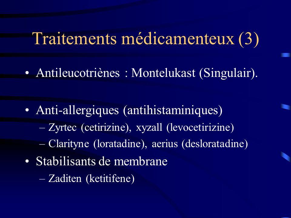 Traitements médicamenteux (3)