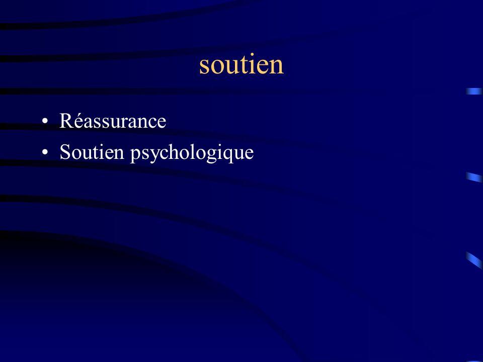 soutien Réassurance Soutien psychologique