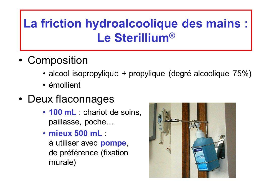 La friction hydroalcoolique des mains : Le Sterillium®