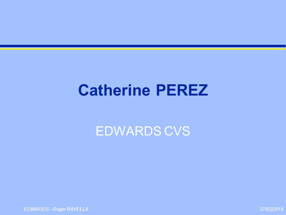 Catherine PEREZ EDWARDS CVS