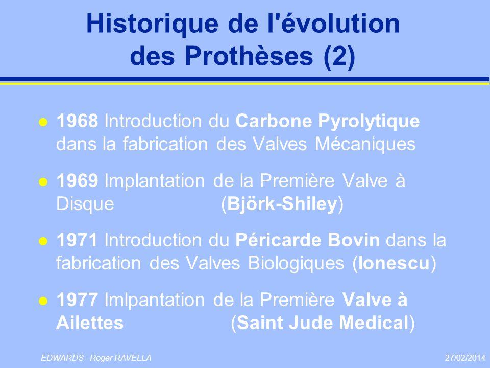 Historique de l évolution des Prothèses (2)
