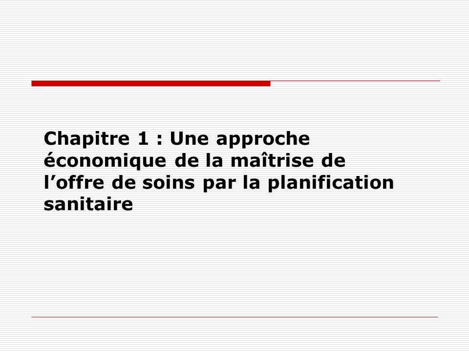 Chapitre 1 : Une approche économique de la maîtrise de l'offre de soins par la planification sanitaire