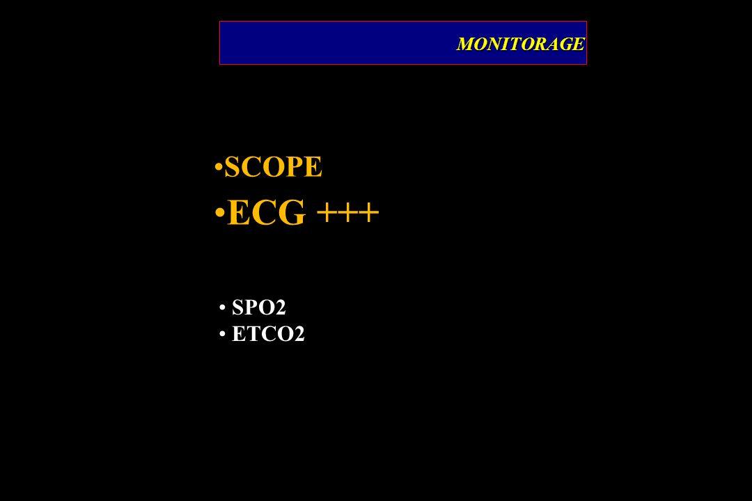 MONITORAGE SCOPE ECG +++ SPO2 ETCO2