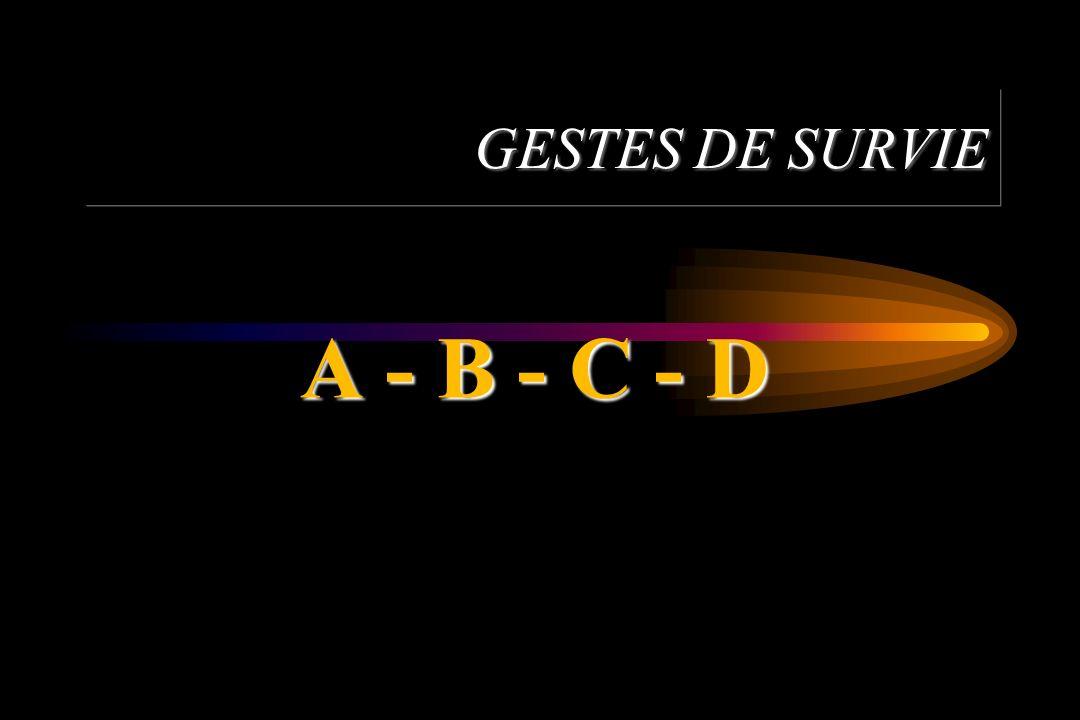 GESTES DE SURVIE A - B - C - D