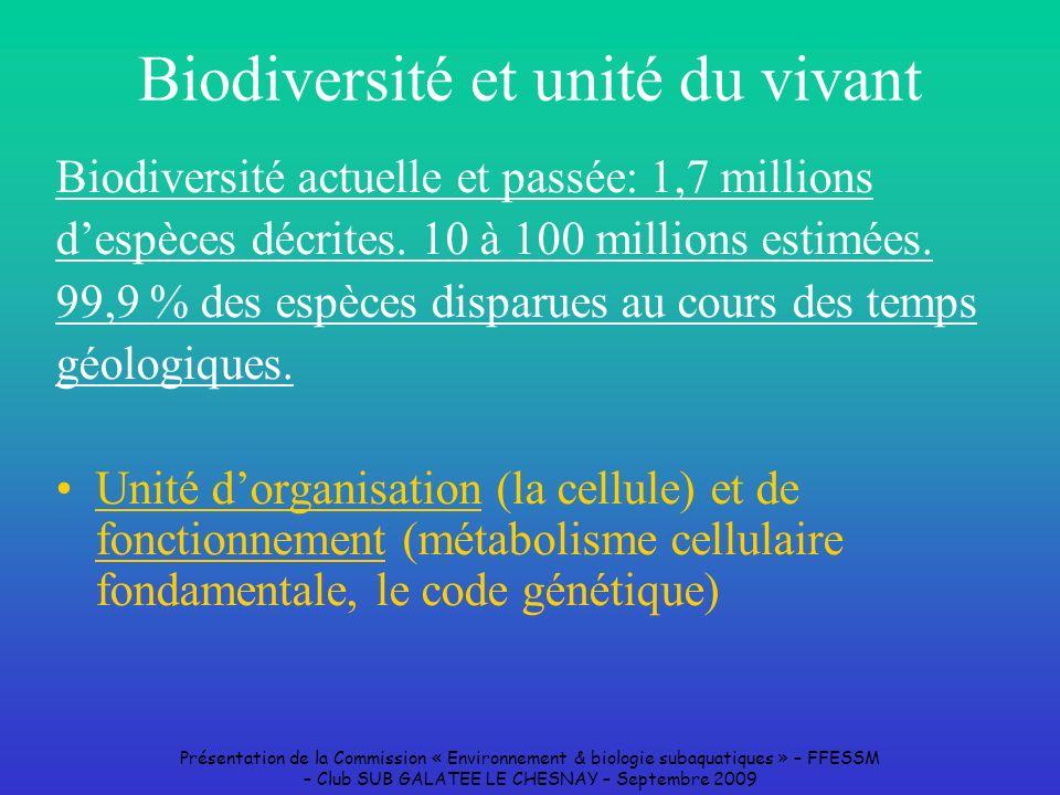 Biodiversité et unité du vivant