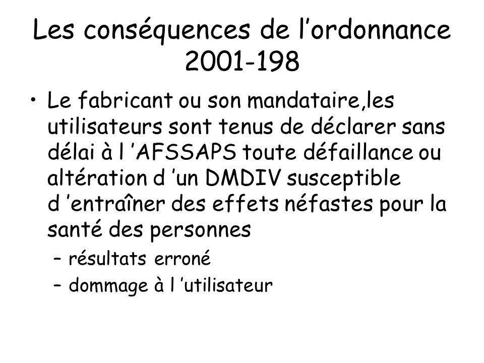 Les conséquences de l'ordonnance 2001-198
